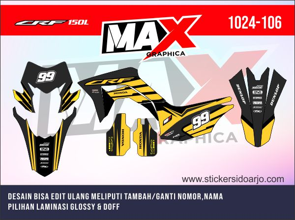 sticker decal CRF maxgraphica cutting sticker sidoarjo